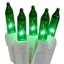 6v replacement mini light bulbs 50 green mini lights