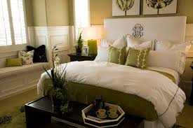 Appealing Decorative Pillows For Bed Finished In Great Coloring Idea Of Wall With Cream Painting