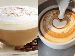 PHOTO A Cappuccino Left Is Pictured Along With Flat White Right