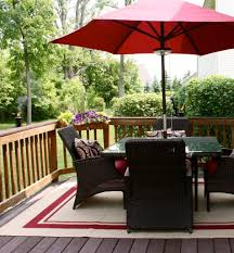 Patio Set Umbrella Walmart by Interesting Ipe Decking With Wood Deck Railing And Outdoor Rugs