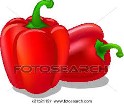 Clip Art of bell peppers k Search Clipart Illustration