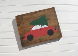 Items Similar To Christmas Tree Wood Sign Holiday Winter Car On Etsy