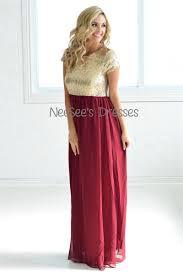 burgundy gold sequin maxi dress beautiful modest bridesmaids