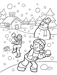 Winter Coloring Pages 7