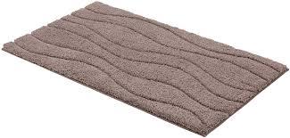 schöner wohnen kollektion santorin badteppich badematte badvorleger design wellen braun oeko tex 100 zertifiziert 70 x 120 cm