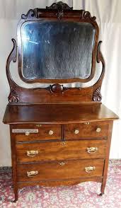 Tiger Oak Serpentine Dresser by Bedroom Antique 3 Drawer Chest Dark Wood Antique Dresser Light