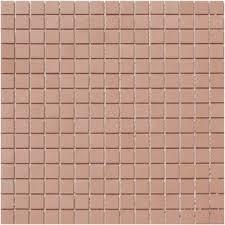 lyric unglazed porcelain rectified edge mosaic tile in camel