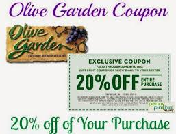 Olive garden coupons 2016 Rock and roll marathon app