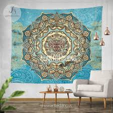 Boho Tapestry Lotus Mandala Wall Hanging Bohemian Decor Bohochic Rustic Design Definitio
