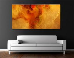 warm embrace modern abstract painting