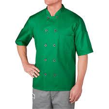 short sleeve primary plastic button chef jacket 4455 tuxedo den