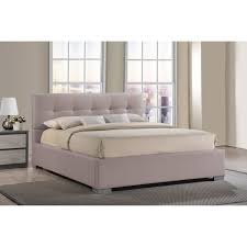 King Size Platform Bed With Headboard by Chelsea Lane Baxter Upholstered Platform Bed Hayneedle