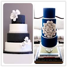 Navy Blue Wedding Cakes