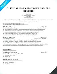 Database Management Resume Examples Combined With Data Awesome Samples Clinical Manager Sample For Create