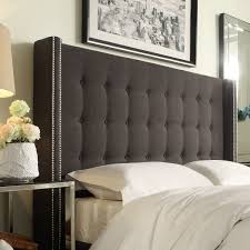 Macys Upholstered Headboards by Beautiful Grey Padded Headboard Including Velvet High Arch Trends