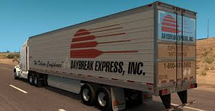 Daybreak Express Utility 3000R Reefer Trailer Skin - American ... A Bunch Of Reasons Not To Ever Work For Western Express Expedite Truckload Specialized Flatbed Air Charter And Ownoperator Niche Auto Hauling Hard Get Established But The Railway Agency Trucking Fleet Graphics Ellwood City Pa Custom Signs Vinyl Heartland 7 Why Working Averitt Is Probably A Lot More Is This The Best Type Cdl Job Drivers Love It 3d Postal Truck Fast Image Photo Bigstock Daybreak Utility 3000r Reefer Trailer Skin American Electric Charges Up Wsj Mc Llc