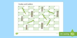 Snakes And Ladders Editable Board Game