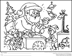 Kids Christmas Coloring Pages Free Color For Archives Ideas Online
