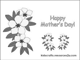 Free Printable Mothers Day Cards Coloring Pages