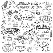 Coloring Thanksgiving Cornucopia And Turkey By Tatiana Kostysheva