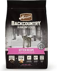 high protein cat food merrick backcountry infused kitten recipe grain free cat