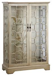 Pulaski Glass Panel Display Cabinet by Amazon Com Stein World Furniture Diana Display Cabinet Silver