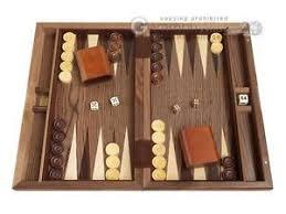 Image Is Loading 15 034 Wood Backgammon Set Diamond Inlay Classic