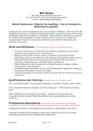 Sample Australian Resume Accounting Experience The Most Brilliant For Format