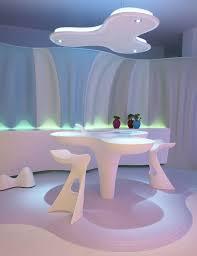 das futuristische minimalistische interieur design smart