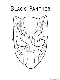 Marvel Movie Black Panther Mask Print Coloring Sheet