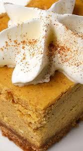 Easy Pumpkin Desserts Pinterest by Best 25 Pumpkin Cheesecake Bars Ideas On Pinterest Thanksgiving