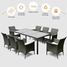 9PCS Patio Furniture Set Dining Brown Rattan Table Chairs Cushions Garden  New 315 Round Alinum Table Set4 Black Rattan Chairs 8 Seater Ding Set L Shape Sofa Brown Beige Garden Amazoncom Chloe Rossetti 17 Piece Outdoor Made Coffee Table Set Stock Photo Image Of Contemporary Hot Item Modern Fniture Stainless Steel And Lordbee Large 5 Pcs Patio Wicker Belleze 3 Two One Glass Details About Chair Cushion Home Deck Pool 3pc Durable For Pcs New Y7n0