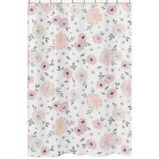 Sweet Jojo Zebra Curtains by Fairy Tale Pink Yellow Baby Bath Fabric Shower Curtain Sweet