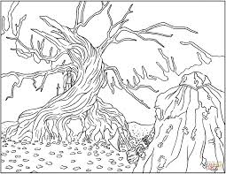 Big Christmas Tree Coloring Pages Printable by The Legend Of Sleepy Hollow Coloring Page Free Printable