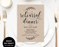 Printable Rehearsal Dinner Invitation Template