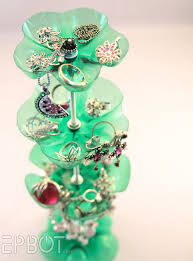 Make A Recycled Soda Bottle Jewelry Stand Dollar Store Crafts
