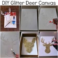 Glitter Deer On Canvas
