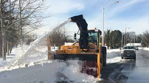 100 Snow Blowers For Trucks Baltimore Uses Giant Snow Blowers On Loan From Boston To Clear