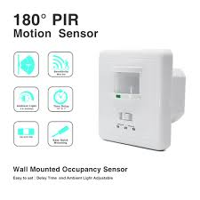 high quality wall mounted pir motion sensor light switch max 600w
