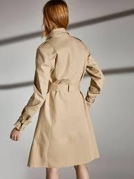 beige trench coat null massimo dutti