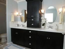 Bathroom Vanity Backsplash Ideas by Bathroom Vanity Shelf Ideas Black Wood Modern Double Sink