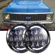 100 Led Lights For Trucks Headlights 2x 7Inch HiLo Beam Amber Turn Signal Chevrolet Truck