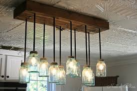 Kitchen Lighting Mason Jar Lights Square Antique Bronze Rustic Pertaining To Dimensions 1600 X 1066