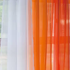 Chiffon Curtains Online India by Buy Rc Homes Voile Sheer Curtain Fabric Dark Orange Online At Low