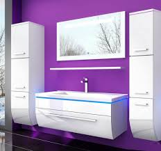 homeline badmöbel set danny 90 badmöbel set weiss komplett hochglanz lackiert badezimmermöbel 6 teilige led bad weiß montiert wird geliefe