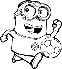 Pictures Of Minions Coloring Pages Minion Kids Color Christmas To Full Size