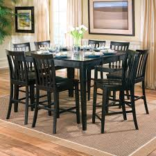 Creative Black Color Wood Square Dining Room Table Seats 8 With Leaf Ideas