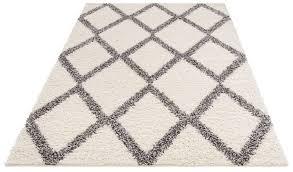hochflor teppich linz my home rechteckig höhe 31 mm dichter flor rauten design wohnzimmer kaufen otto