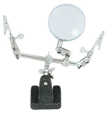 Excel Double Clip Extra Hands - With Magnifier