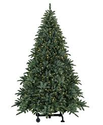 9 Ft Slim Christmas Tree Prelit by The Finest Real Feel Artificial Christmas Trees